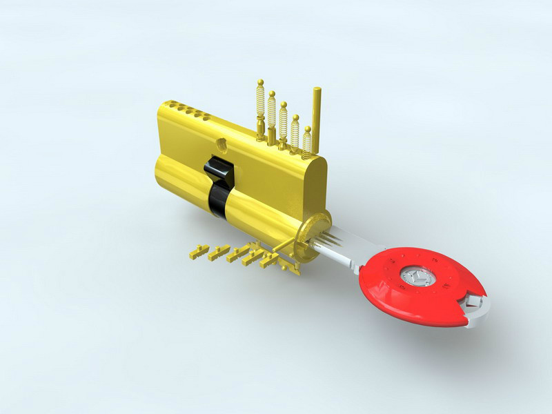 美利保超b级锁芯结构参考图